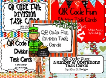 BUNDLE: 5.NBT.6 Division Task Cards & Scavenger Hunt