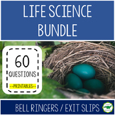 BUNDLE : 5th - 6th Grade Life Science Bell Ringers / Exit