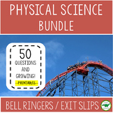 BUNDLE : 5th - 6th Grade Physical Science Bell Ringers / E