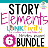 BUNDLE: 6 Story Element LINKtivities®   Digital Guides   Distance Learning