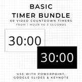 BUNDLE - 60 BASIC Video Countdown Timers - PowerPoint, Goo