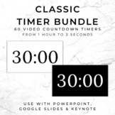 BUNDLE - 60 CLASSIC Video Countdown Timers - PowerPoint, G
