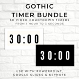 BUNDLE - 60 GOTHIC Video Countdown Timers - PowerPoint, Go