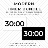 BUNDLE - 60 MODERN Video Countdown Timers - PowerPoint, Go