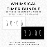 BUNDLE- 60 WHIMSICAL Video Countdown Timers - PowerPoint,