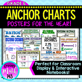 6th Grade Math Anchor Posters for the whole Year! {BUNDLE!}