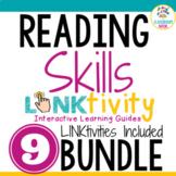 BUNDLE: 9 Reading Skills LINKtivities®   Digital Guides  
