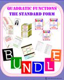 BUNDLE (10 products) - Standard Form of Quadratic Function