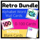 BUNDLE: 90s Retro Design ** Word Wall + Alphabet Cards + F