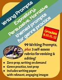 BUNDLE! 99 Writing Prompts: Expository, Persuasive & Narrative, Grades 9-12