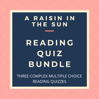 BUNDLE: A Raisin in the Sun Reading Quizzes