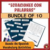 BUNDLE!!! A Spanish Vocabulary Activity: Ecuaciones con pa