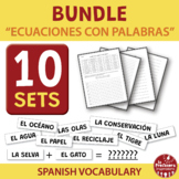 BUNDLE!!! A Spanish Vocabulary Activity: Ecuaciones con pa