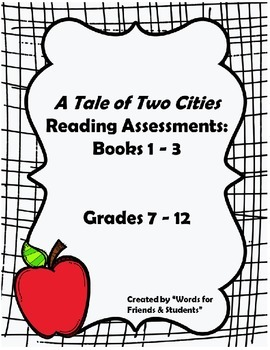 BUNDLE: A Tale of Two Cities Comprehension Quizzes - all t
