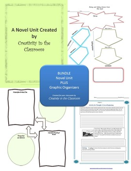 BUNDLE: A  Week in the Woods Novel Unit Plus Grammar AND Graphic Organizers