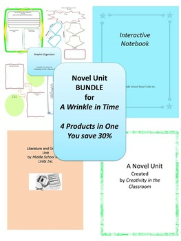 BUNDLE: A Wrinkle in Time 4 Products in 1