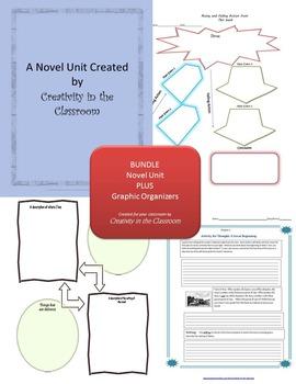 BUNDLE: A  Year Down Yonder Novel Unit Plus Grammar AND Graphic Organizers