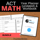 BUNDLE-ACT Math Prep 6 Week Workbook & Year Math Prep Plan