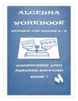 BUNDLE - ALGEBRA WORKBOOK 1 / FRACTIONS WORKBOOK 1