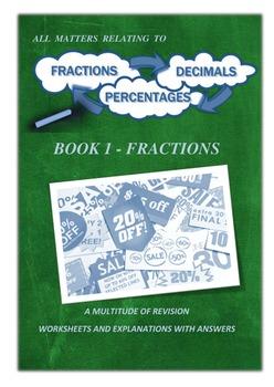 BUNDLE - ALGEBRA WORKBOOK 1 / FRACTIONS WORKBOOK 1