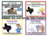 "BUNDLE ALL 3rd Grade TEKS ""I can"" Statement Posters"