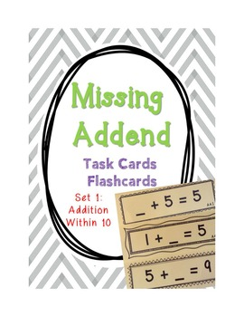 {BUNDLE: ALL 4 SETS} - Missing Addend, Minuend, and Subtra