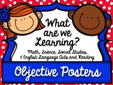 """BUNDLE ALL 4th Grade TEKS """"I can"""" Learning Target Posters"""