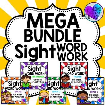 Sight Word Work MEGA BUNDLE