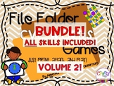 BUNDLE-ALL File Folder Phonics Games! VOLUME 2