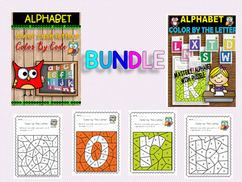 BUNDLE  ALPHABET - CAPITAL AND LOWER CASE LETTER - COLOR BY THE CODE
