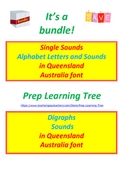 BUNDLE ALPHABET LETTERS AND SOUNDS + DIGRAPHS in Queenslan