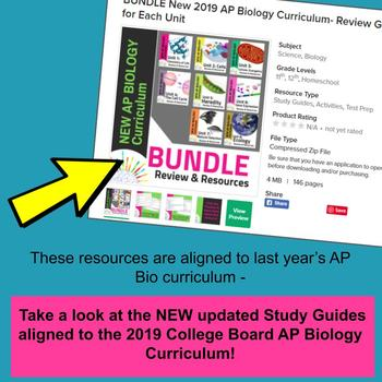BUNDLE: AP Biology Review Guide for ALL of Big Idea 2: Cells and Homeostasis