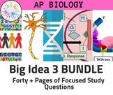 BUNDLE: AP Biology Review Guide for ALL of Big Idea 3: Information Exchange