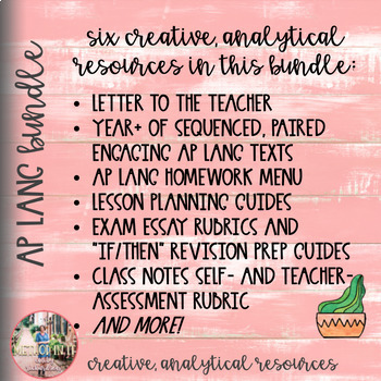 BUNDLE: It's a Great Year in AP English Language and Composition (AP Lang)!