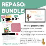 BUNDLE: AP Spanish Literature - Repaso Units 1-6