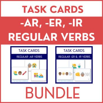 Spanish Verb Conjugation Task Cards for AR ER and IR BUNDLE