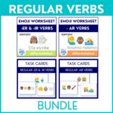 Spanish Regular Verbs Bundle Task Cards and Worksheets wit