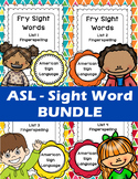 BUNDLE: ASL - Fry's 1st 100 Sight Words (Volumes 1, 2, 3 &