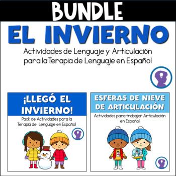 BUNDLE: Actividades de Lenguaje y Articulación para el Invierno