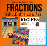 BUNDLE: Adding/Subtracting Fractions