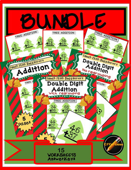 BUNDLE: Addition Package(TouchMath Supplement) Christmas Theme