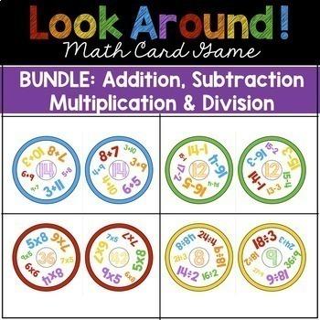 Math Games BUNDLE: Addition, Subtraction, Multiplication, Division