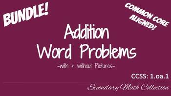 BUNDLE! Addition Word Problems CCSS 1.oa.1