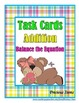 BUNDLE: Addition and Subtraction Balance the Equation Task Cards