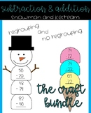 BUNDLE Addition and Subtraction Snowman and Icecream