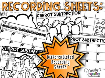 BUNDLE - Addition and Subtraction Spring Center - Facts 0-10