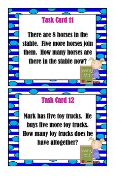 BUNDLE: Addition, Subtraction, and Mixed Word Problems - Task Cards