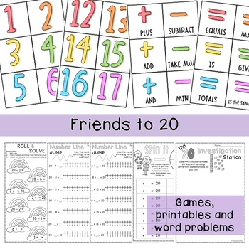 Addition and Subtraction to 10, 20 and 100 Activities BUNDLE