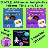 BUNDLE Additive and Multiplicative Relationships 3 activities TEKS 5.4C 5.4D