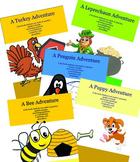 BUNDLE-Adventure Books:spatial concepts, answer questions, 3 word phrases, vocab